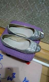 🚚 🇰🇷正韓製 銀色滿銀蔥平底鞋