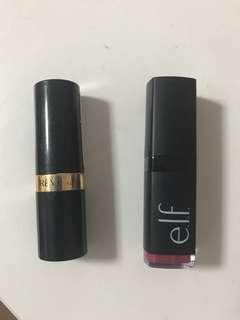Elf and revlon lipstick