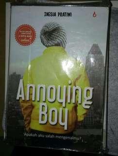 NOVEL ANNOYING BOY by Inesia Pratiwi
