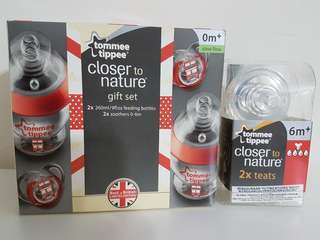Tommee Tippee Best of British set & 2 x teats