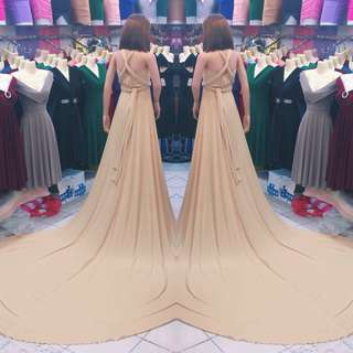 Long train Infinity Dress - For PRENUP
