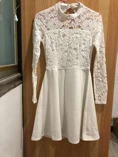 白色小禮服 洋裝 婚禮 謝師宴