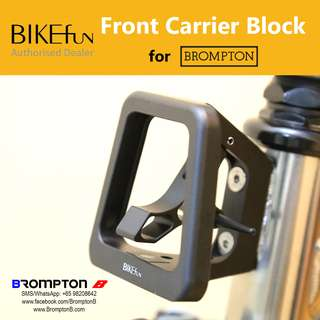 BIKEfun Front Carrier Block for Bromptons (with GoPro mount)