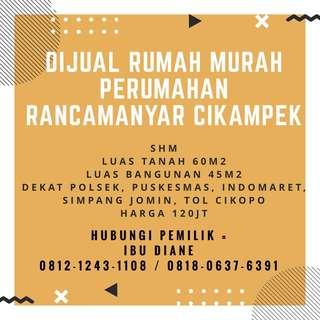 JUALCEPAT Rumah Jatisari Cikampek Karawang