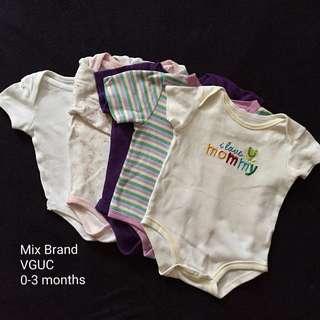 0-3M Baby Girl Onesies