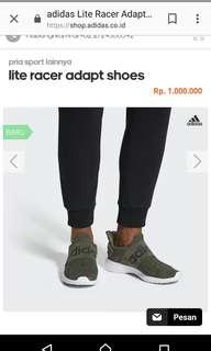 Adidas Lite Racer Adapt original + Free Kaos Kaki
