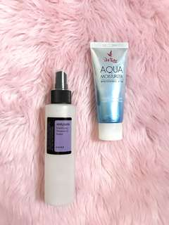 Cosrx aha/bha toner & aqua moisturizer bundle