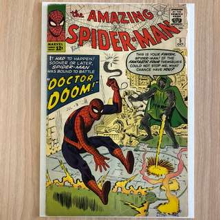 MARVEL COMICS The Amazing Spider-Man #5-1st Appearance of Doctor Doom outside of Fantastic Four (Serious Buyers Only)