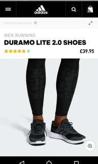Adidas Duramo Lite 2.0 original + Free Kaos Kaki