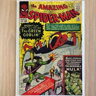MARVEL COMICS The Amazing Spider-Man #14-1st Appearance of Green Goblin | 1st meeting of the Hulk & Spider-Man (Serious Buyers Only)