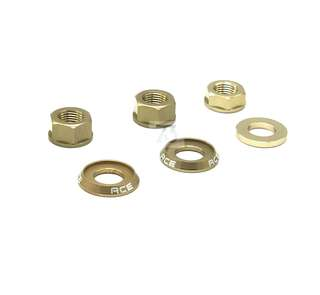 Rear axle bolts - Bronze for 2 speed Brompton