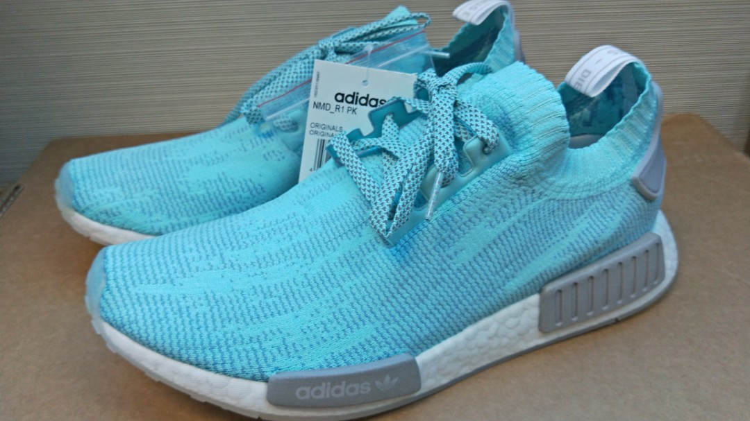 on sale cf59c 8cf25 Adidas NMD R1 PK Energy Aqua, Mens Fashion, Footwear, Sneake