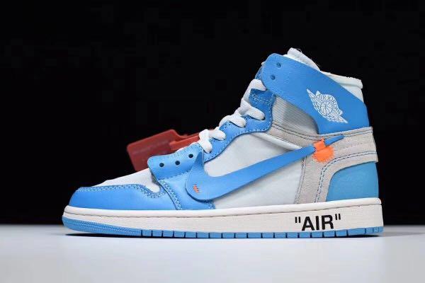 2c5d8bbc2 Air Jordan 1 Retro High Off-white University blue