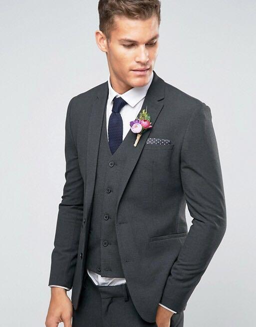 Asos Wedding Super Skinny Charcoal Suit Jacket Men S Fashion Clothes Outerwear On Carou