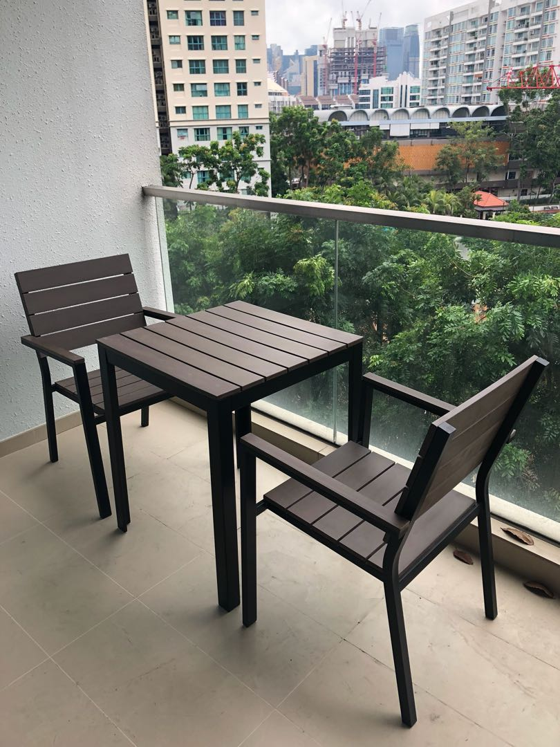 Balcony Table Chair Set By Ikea Furniture Tables