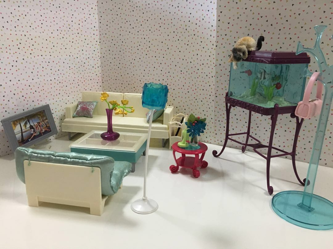barbie tv living room furniture set out of production toys rh sg carousell com
