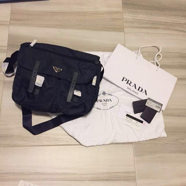 43b85884c8 ... new zealand bnip prada nylon pattina messenger bag bt1738 luxury bags  wallets on carousell 82dbc 9d609