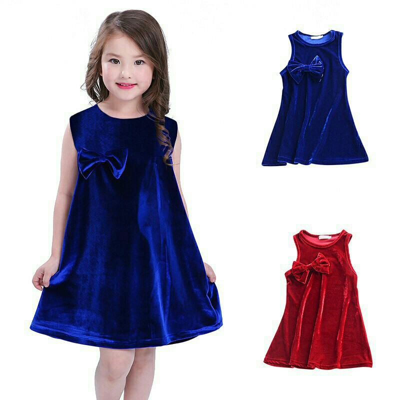 9f41f982bc255 *FREE DELIVERY to WM only / Pre order 14 days* Kids soft velvet bowknot  dress each as shown design/color., Free delivery is applied for this item.