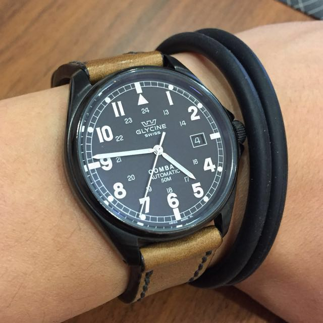 Glycine Combat Pvd Automatic Watch Luxury Watches On Carousell