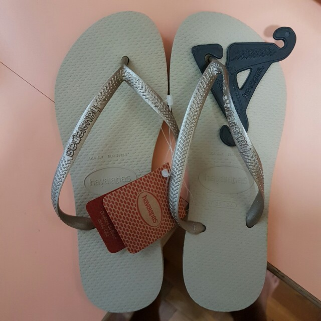 22a4ae59a Havaianas slim sand grey light gold slippers