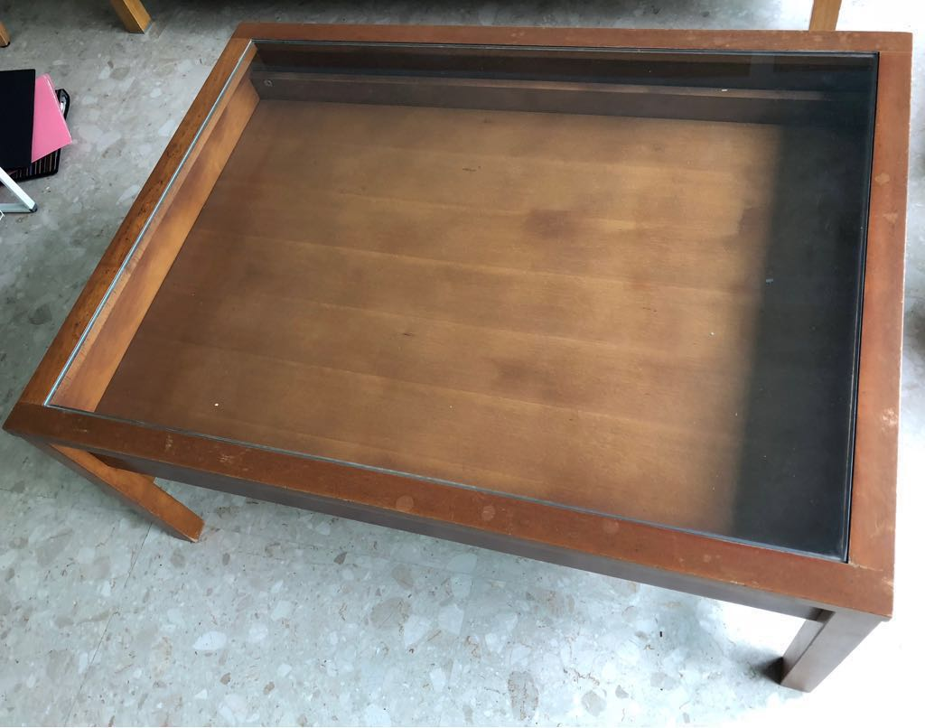 Ikea Glass Top Display Table 105 X 79 X 46 Cm Furniture Tables Chairs On Carousell