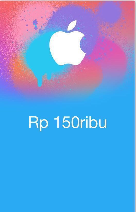 iTunes Gift Card Indonesia 150rb, Tiket & Voucher, Kartu Hadiah & Voucher di Carousell