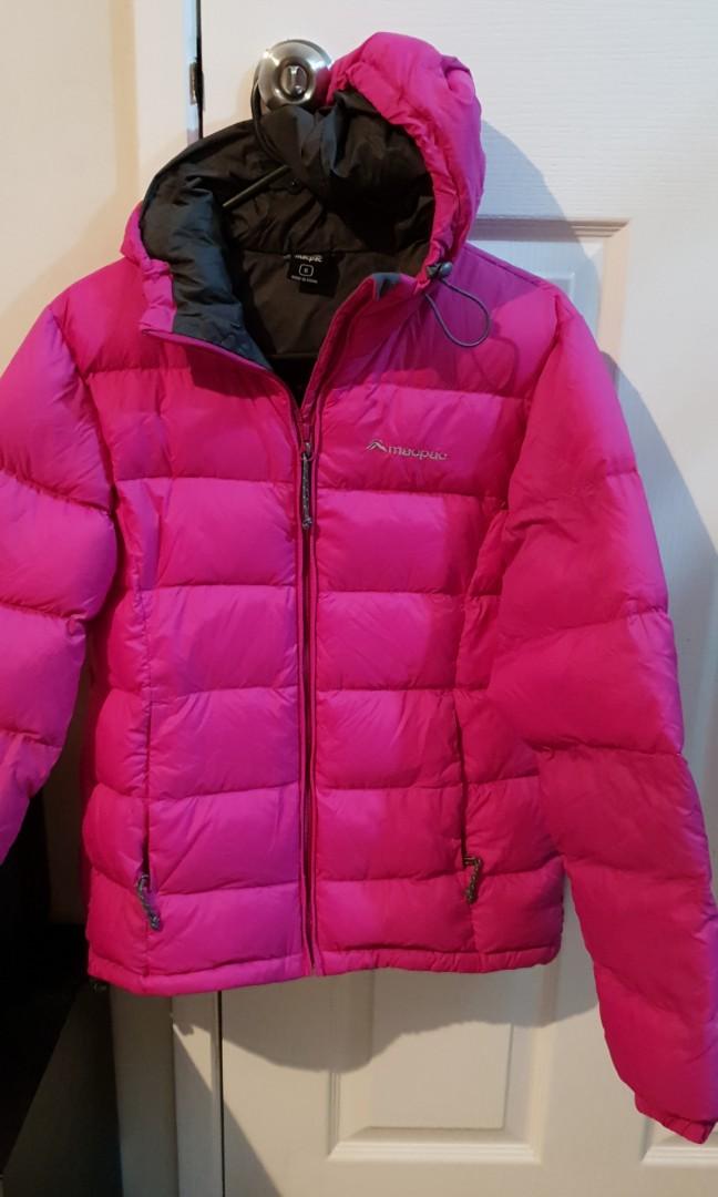 Macpac hooded puffer jacket size 6