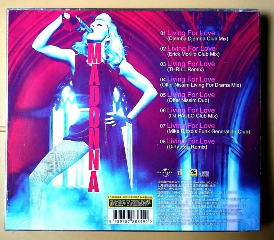 Madonna Living For Love Remixes Maxi CD Single Rebel Heart