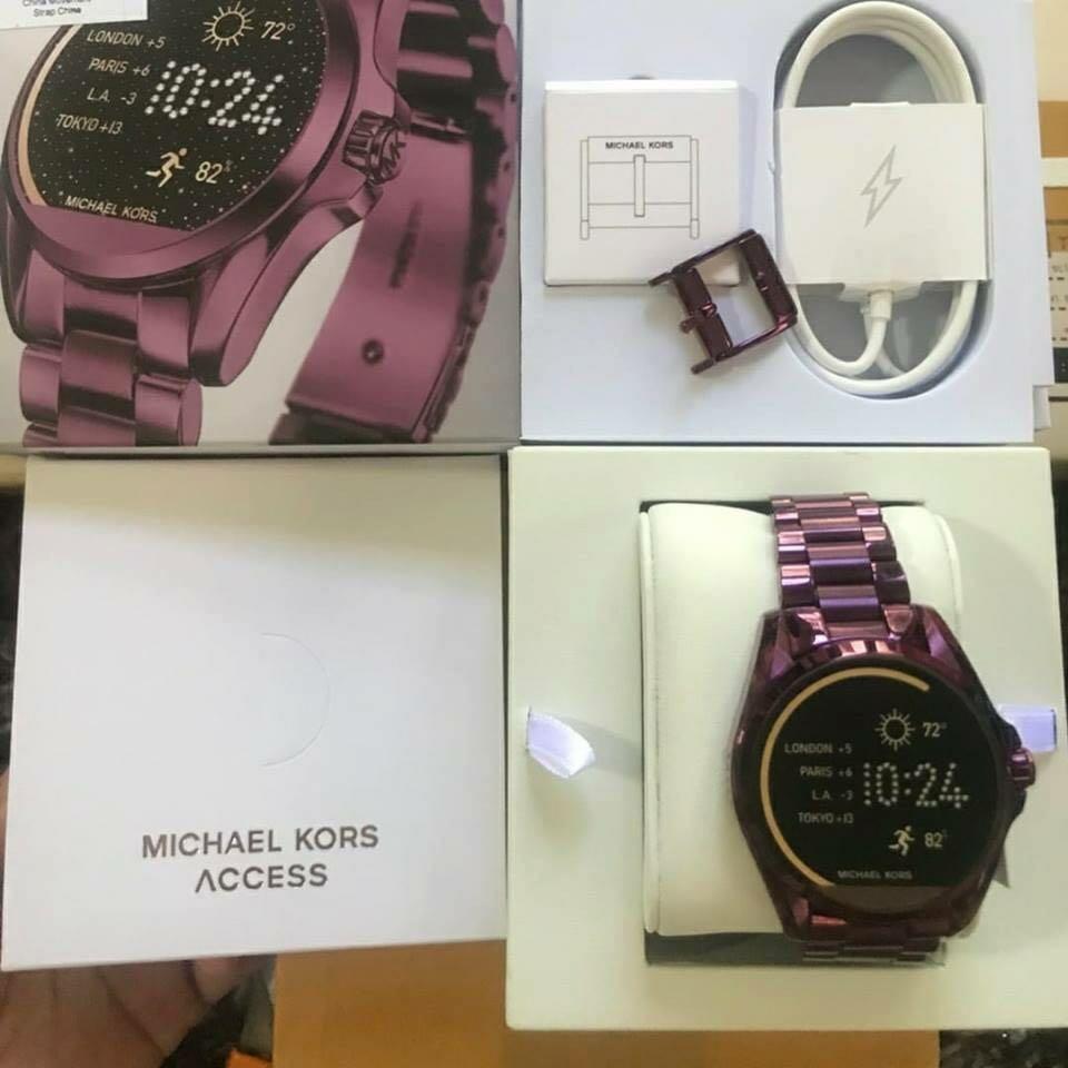 7853654d6932 Michael Kors Bradshaw Plum-Tone Smartwatch