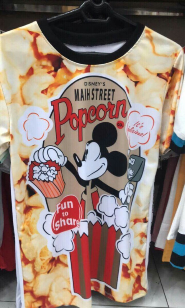 84cee50d8 Mickey Mouse Pop Corn Tee Shirt, Women's Fashion, Clothes, Tops on ...