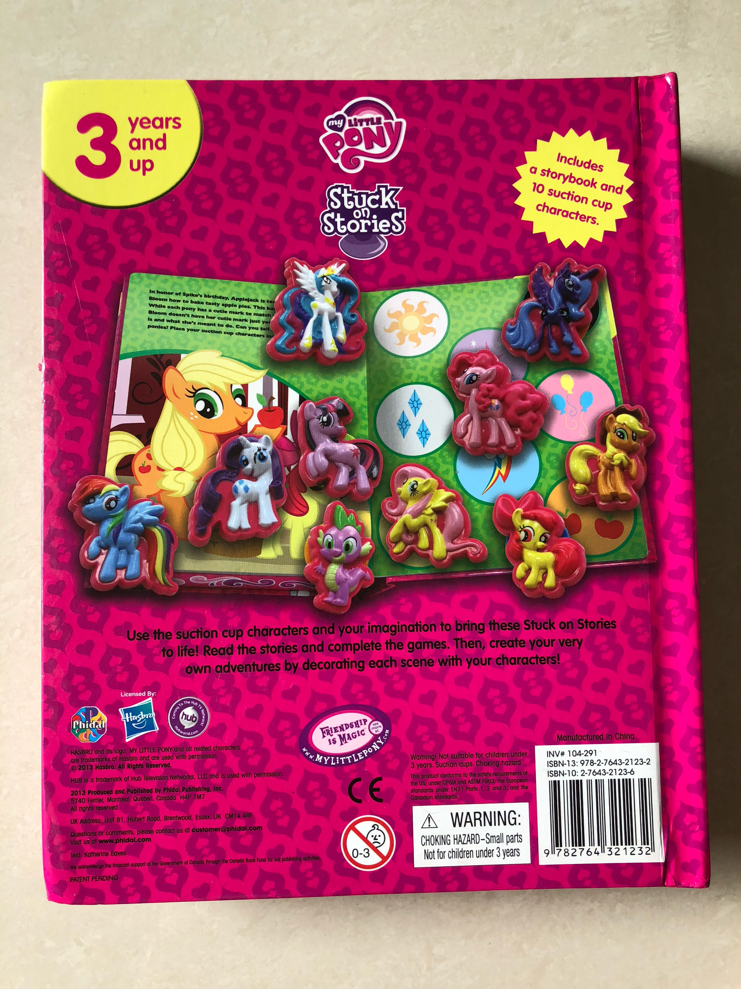 My Little Pony story book with suction ponies, Books