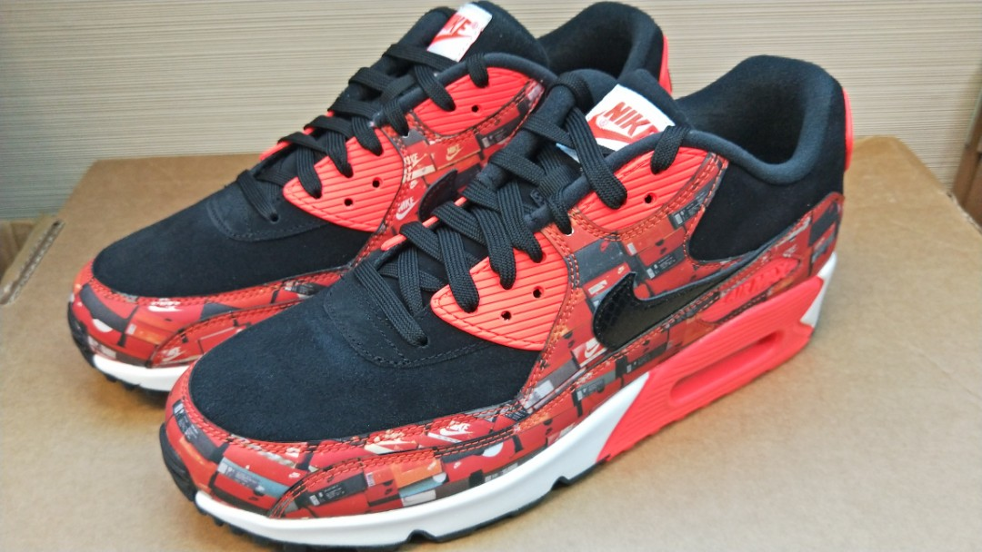 new product 34f6a 2d78f Nike X ATMOS Air Max 90 Print, Men s Fashion, Footwear, Sneakers on ...