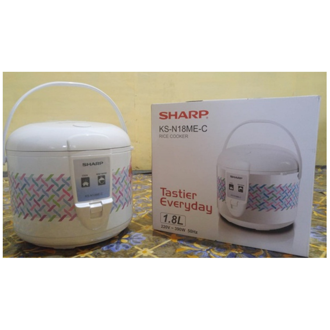 Sharp KS-R18MS-GY Rice Cooker. Source · Bagikan Barang .