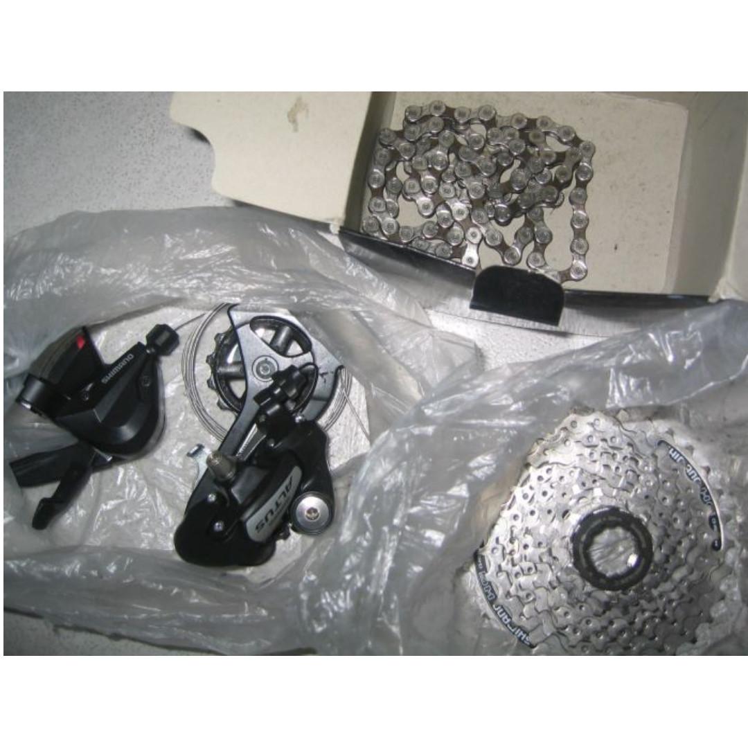 Shimano Altus 8-speed + Rear Derailleur + Shifter + Cassette + Chain