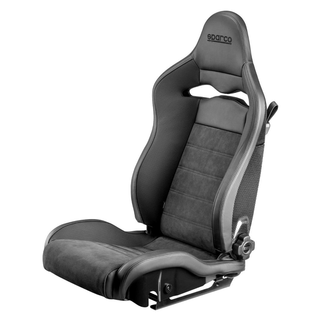 Sparco Spx Reclinable Carbon Fibre Fiber Alcantara Sports Bucket Seat Black Grey Left Side Sparco Racing Seat Sparco Bucket Seat Track Day Car Accessories Accessories On Carousell