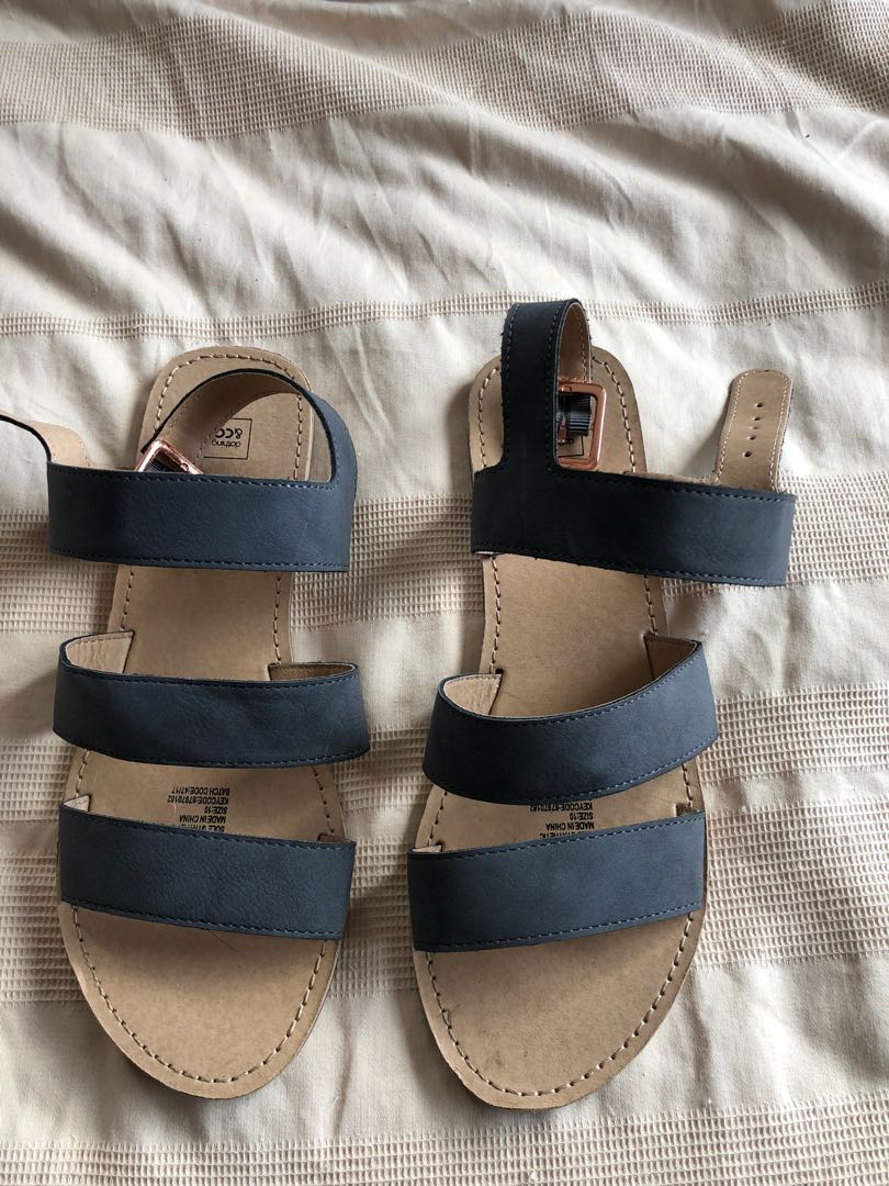Summer grey suede strapped sandals