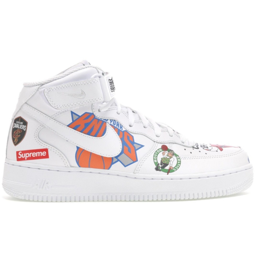 size 40 4ef2c 552fa Supreme Air Force 1 Mid NBA White, Men s Fashion, Footwear, Sneakers ...