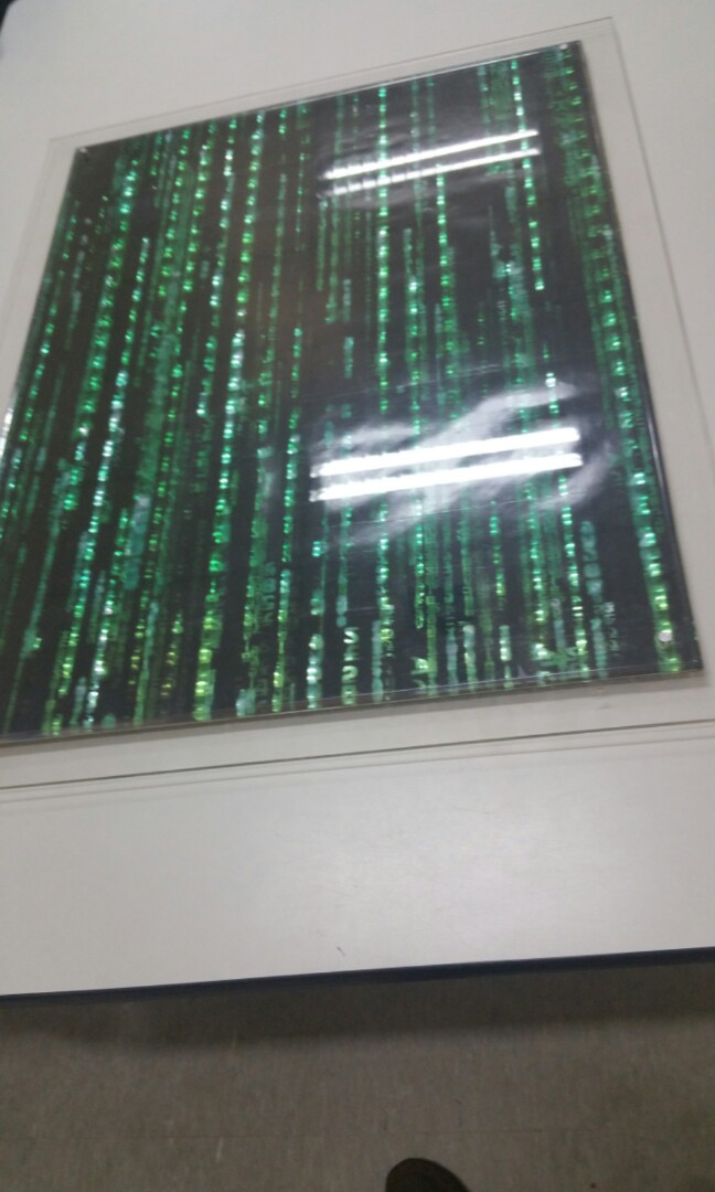 THE MATRIX RELOADED HOLOFOIL HOLOGRAM 3D Original Movie Poster