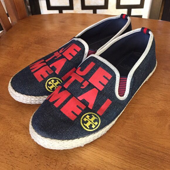 be98a7b3b29db Tory Burch Canvas Shoes Limited Edition