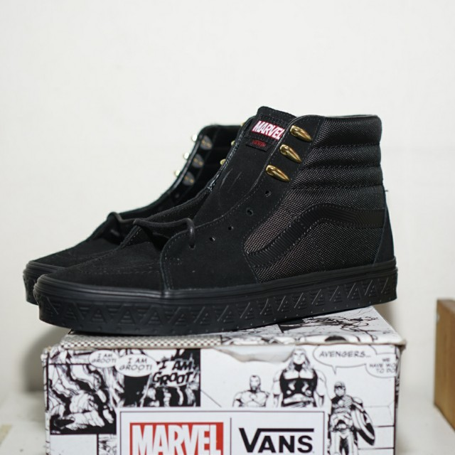 (US10) LIMITED EDITION VANS X MARVEL BLACK PANTHER Vans Sk8 Hi (RETAIL)