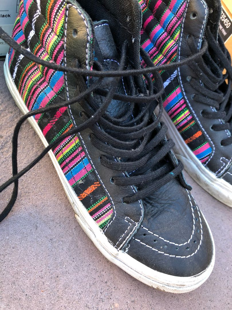 Vans hi top multi color