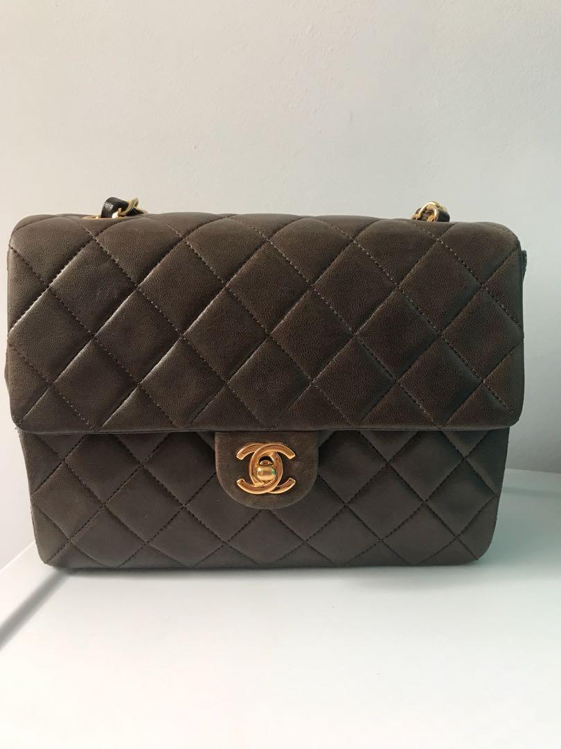 415741cbf6c5 Vintage chanel bag in dark brown, Luxury, Bags & Wallets, Handbags ...