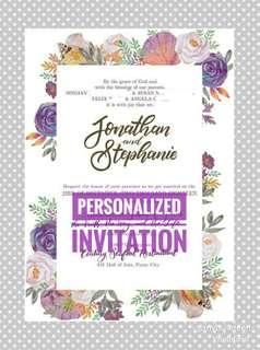 Personalized design for invitations