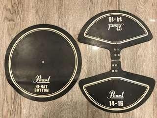 "Pearl Rubber Cymbal Pad Set ( 2 x 14-16"", 1 x Hi Hat)"