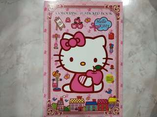 Hello Kitty Sticker and Colouring Book