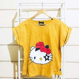 Plus Size Hello Kitty Mustard Shirt