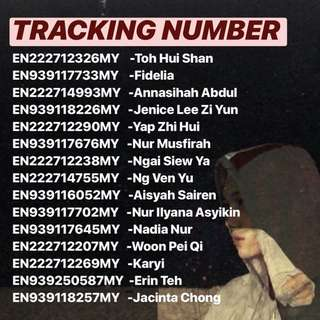 7/6 TRACKING NUMBER .