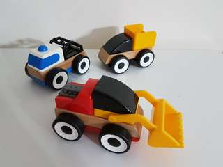 Ikea Lillabo toy vehicle 3 pack