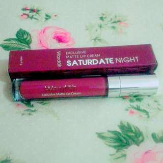 Wardah Exclusive Matte Lip Cream 18 Saturdate Night