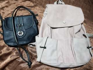 Backpack and sling bags bundle